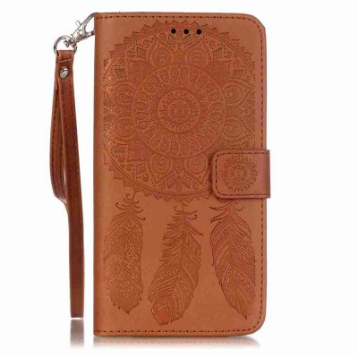 Buy Embossing Campanula PU Phone Case for Samsung Galaxy S6 Edge Plus, BROWN, Mobile Phones, Cell Phone Accessories, Samsung Accessories, Samsung S Series for $8.40 in GearBest store