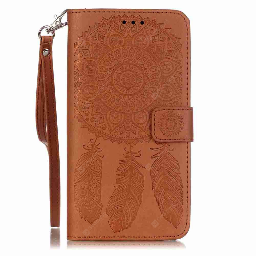 Embossing Campanula PU Phone Case for Samsung Galaxy S6 Edge Plus, BROWN, Mobile Phones, Cell Phone Accessories, Samsung Accessories, Samsung S Series