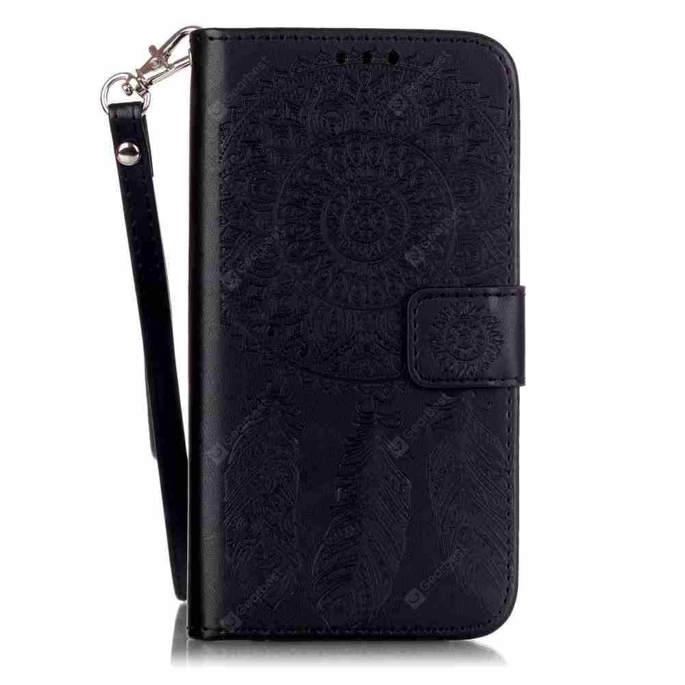 Embossing Campanula PU Phone Case for Samsung Galaxy S5