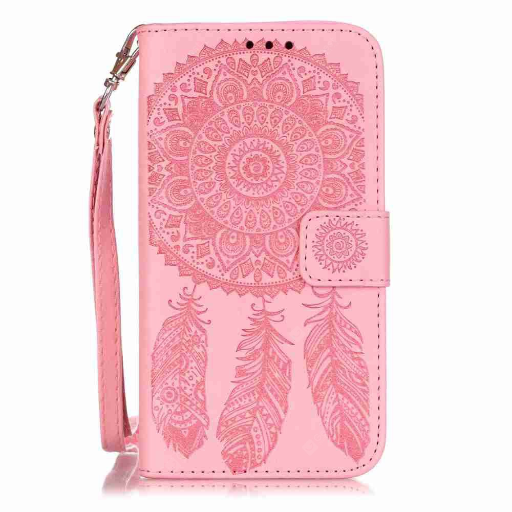 Embossing Campanula PU Phone Case for Samsung Galaxy S5, PINK, Mobile Phones, Cell Phone Accessories, Samsung Accessories, Samsung S Series