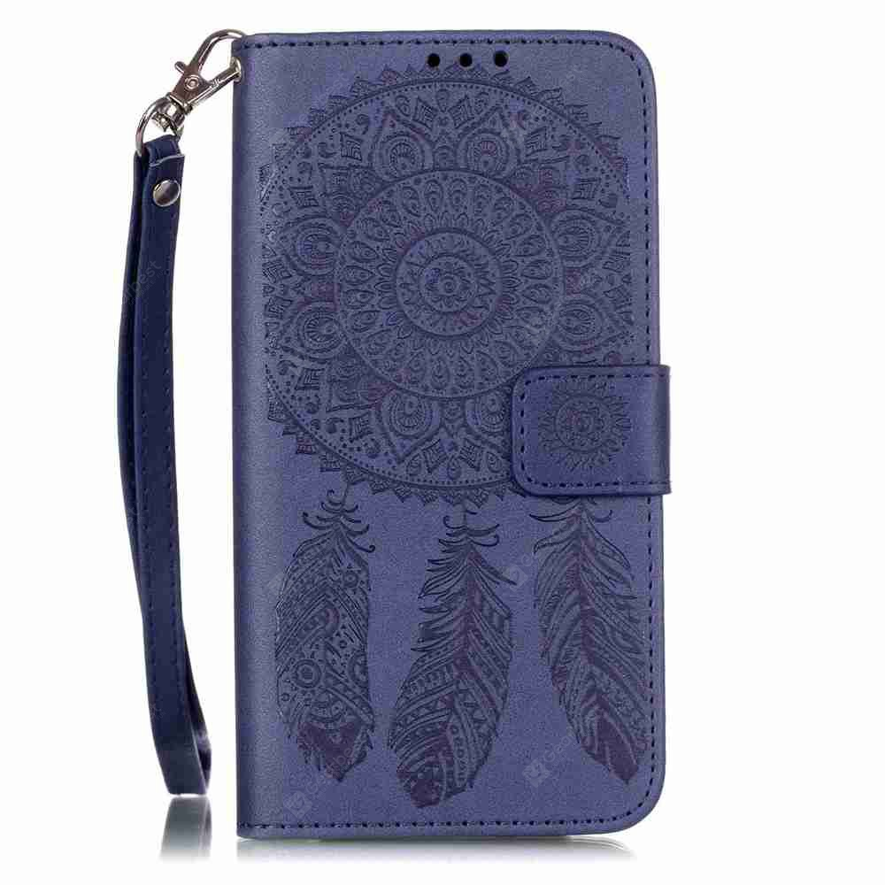Embossing Campanula PU Phone Case for LG G5