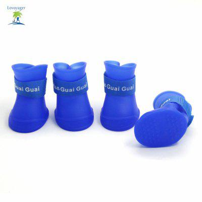 Lovoyager VSB161011 Pet Shoes Rubber Rain Boots for DogDog Clothing &amp; Shoes<br>Lovoyager VSB161011 Pet Shoes Rubber Rain Boots for Dog<br><br>For: Dogs<br>Functions: Waterproof<br>item: Pet rain shoes<br>Material: Silicone<br>Package Contents: 4 x Dog Rain Shoes<br>Package size (L x W x H): 30.00 x 20.00 x 5.00 cm / 11.81 x 7.87 x 1.97 inches<br>Package weight: 0.0800 kg<br>Product weight: 0.0600 kg<br>Season: All seasons<br>Type: Shoes