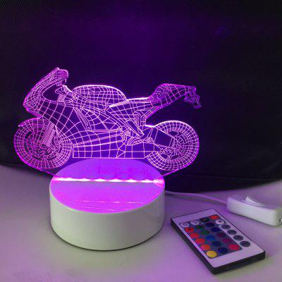 DSU Motorcycle Optical Illusion Color Change 3D Visual LED Light