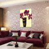 Tuo Flower Style Oil Painting Size 60 x 90CM HT - 1998 - PURPLISH RED
