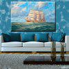 Hua Tuo Sailing Oil Painting 60 x 90CM OSR - 160332 - WHITE AND GREEN