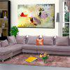 Hua Tuo Abstract Oil Painting Size 60 x 90CM OSR - 160344 - PURPLE + RED