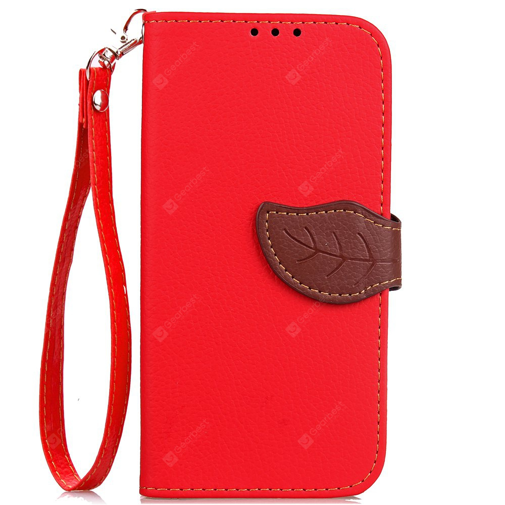 Leaf Card Lanyard Pu Leather for Cubot RAINBOW 2, RED, Mobile Phones, Cell Phone Accessories, Cases & Leather