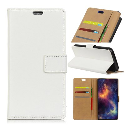 Wkae Solid Color Slim Pattern PU Leather Wallet Stand Case for Huawei Mate 10