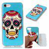 Wkae TPU Material Color Pattern Protection Shell for IPhone 7 / 8 - BLUE AND WHITE