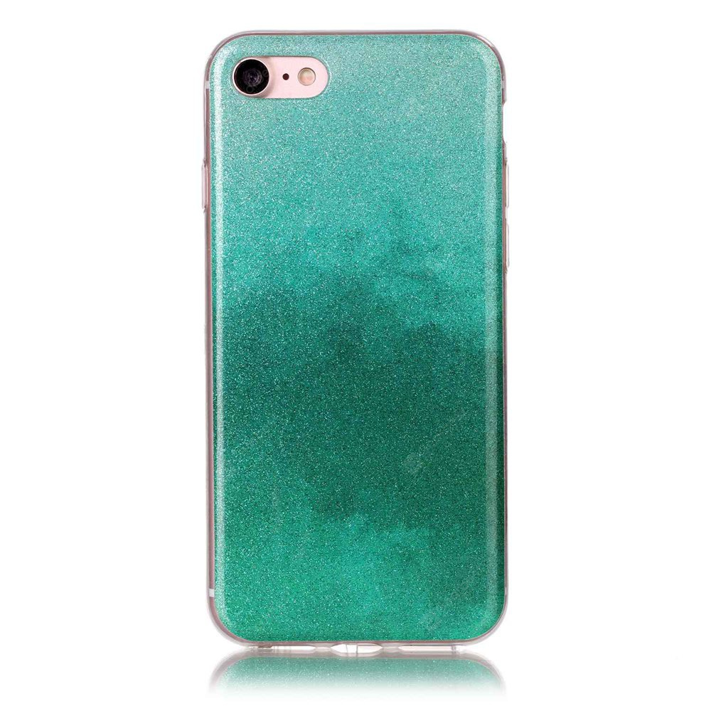 Wkae TPU Material Glitter Powder Painting Protection Shell for IPhone 7 / 8