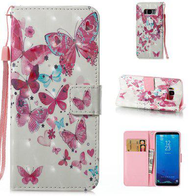 Buy Wkae 3D Stereo Painted Leather Case Cover for Samsung Galaxy S8, ROSE + WHITE, Mobile Phones, Cell Phone Accessories, Samsung Accessories, Samsung S Series for $3.85 in GearBest store