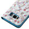 Wkae 3D Stereo Painted Leather Case Cover for Samsung Galaxy S8 - WHITE