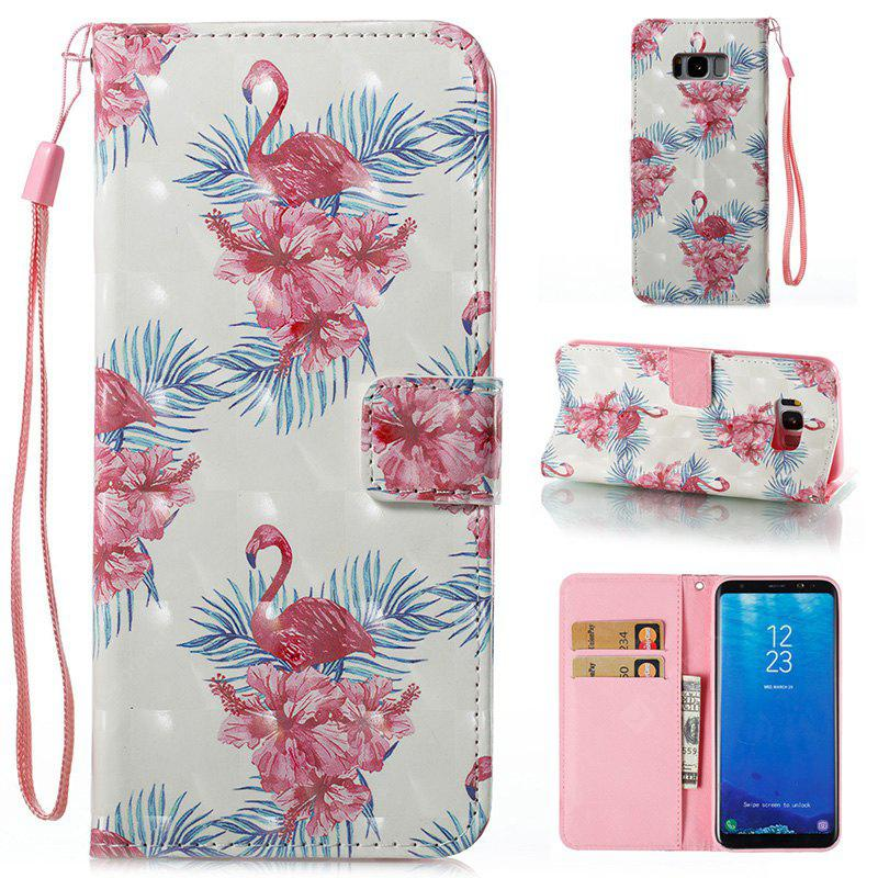 Wkae 3D Stereo Painted Leather Case Cover for Samsung Galaxy S8 Plus