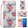 Wkae 3D Stereo Painted Leather Case Cover for Samsung Galaxy S8 Plus - WHITE + PINK + BLUE