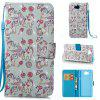 Wkae 3D Stereo Painted Leather Case Cover for Huawei Y5 2017 / Y6 2017 - WHITE