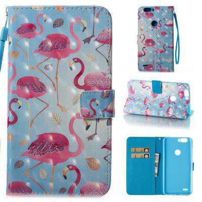 Wkae 3D Stereo Painted Leather Case Cover for ZTE Z982