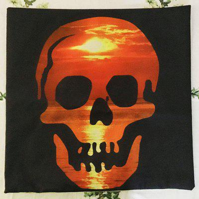 DIHE Halloween Red Sunset Skull Head Linen Decorative Throw Pillow CasePillow<br>DIHE Halloween Red Sunset Skull Head Linen Decorative Throw Pillow Case<br><br>Brand: DIHE<br>Category: Pillow Case<br>For: All<br>Material: Linen<br>Occasion: KTV, Bedroom, Bar<br>Package Contents: 1 ? Pillow Case<br>Package size (L x W x H): 45.00 x 23.00 x 1.00 cm / 17.72 x 9.06 x 0.39 inches<br>Package weight: 0.0930 kg<br>Product size (L x W x H): 45.00 x 45.00 x 0.30 cm / 17.72 x 17.72 x 0.12 inches<br>Product weight: 0.0900 kg