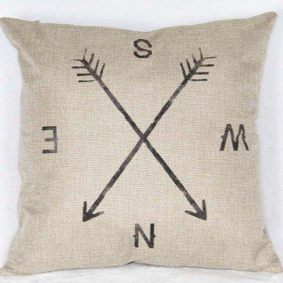 DIHE Simple Style Compass Pillow Case