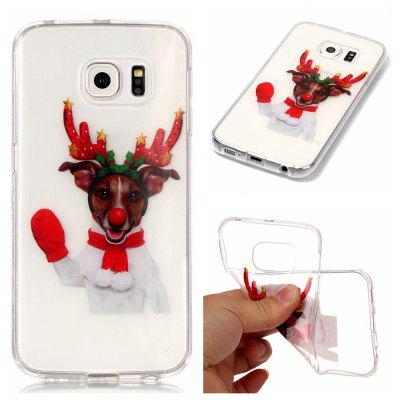 Christmas Style TPU Soft Back Case for Samsung Galaxy S6 Edge