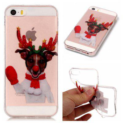 Christmas Style TPU Soft Back Case for iPhone SE