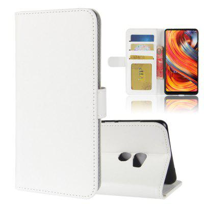 Durable Crazy Horse Pattern Back Buckle Flip PU Leather Wallet Case for Xiaomi Mi Mix 2