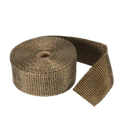 15m Heat Wrap Exhaust Manifold Downpipe Fibre Insulation Cloth with 10pcs 30cm Cable Ties for Car Motorcycle SI-A0259