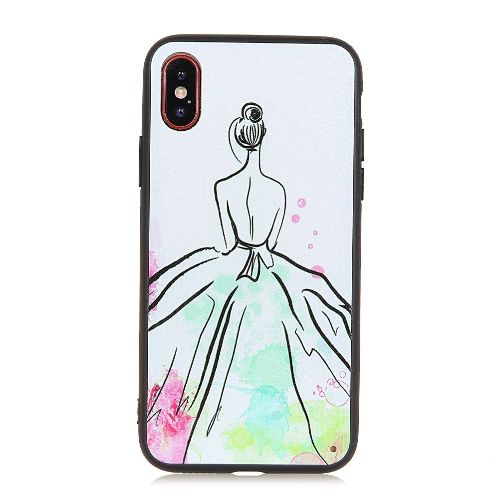 KaZiNe Azine Embossment Tpu + Pc  Cell Phone  Color skirt Case for iPhone X
