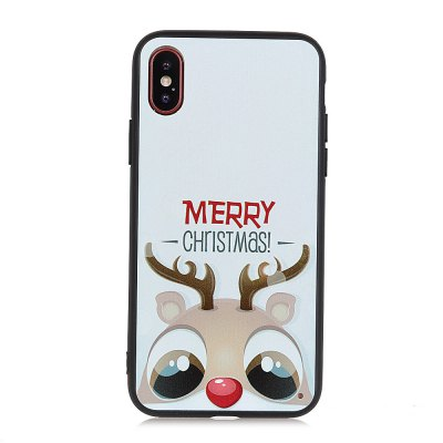 KaZiNe Azine Embossment Tpu + Pc  Cell Phone Fawn Case for  iPhone X