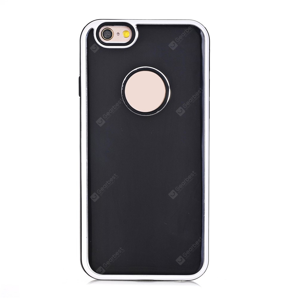 TPU Metal Back Shockproof Anti-Scratch Cover Case for IPhone 6 Plus / 6S Plus