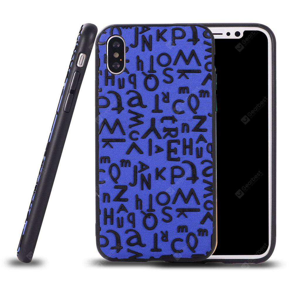Ultra Thin Slim Soft TPU Silicon Case Lightweight Protective Screen Protector Shock Absorbing Shockproof Hybrid Cover Various Letters for IPhone X