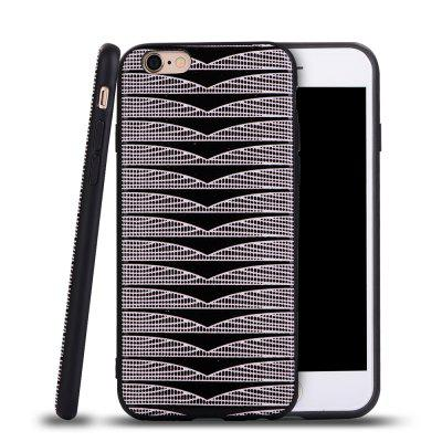 Ultra Thin Slim Soft TPU Silicon Case Shockproof Cover Triangle Stripes for IPhone 6 / 6S