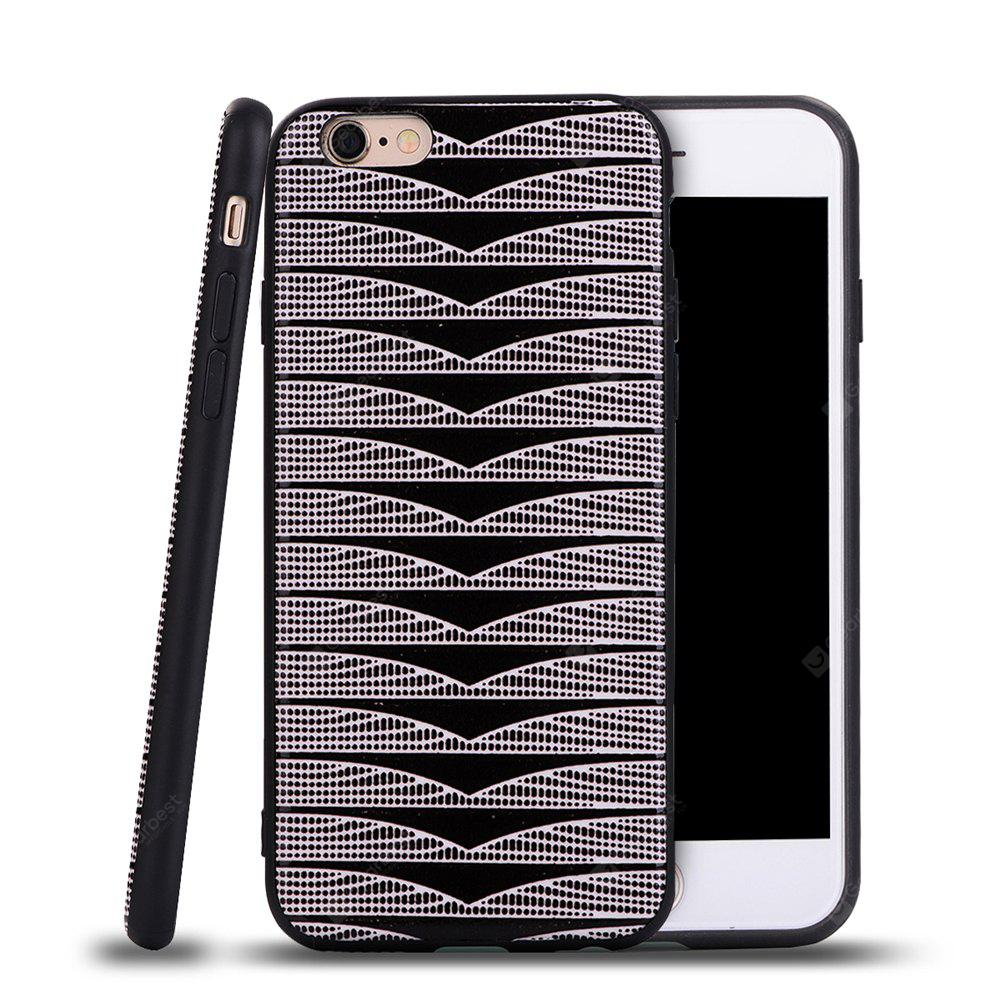 Ultra Thin Slim Soft TPU Silicon Case Shockproof Cover Triangle Stripes for IPhone 6 Plus / 6S Plus