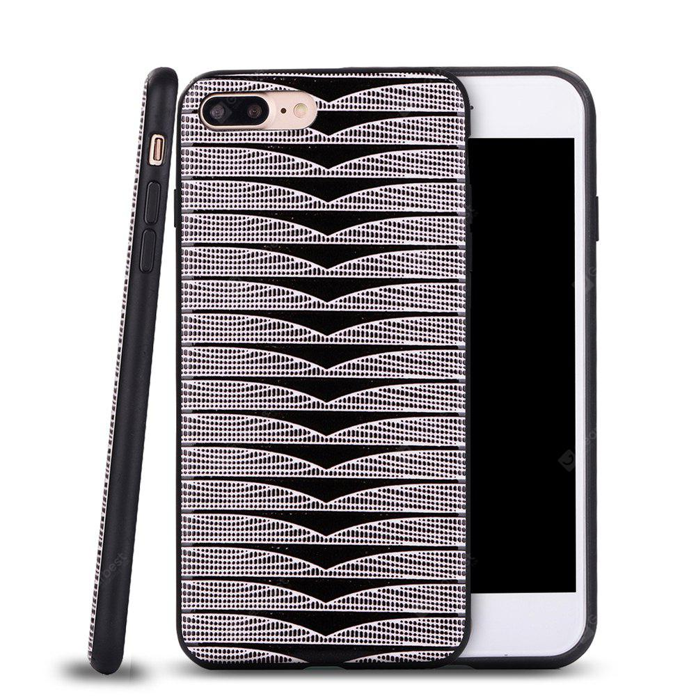 Ultra Thin Slim Soft TPU Silicon Case Shockproof Cover Triangle Stripes for IPhone 7 Plus / 8 Plus