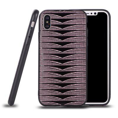 Ultra Thin Slim Soft TPU Silicon Case Shockproof Cover Triangle Stripes for IPhone X