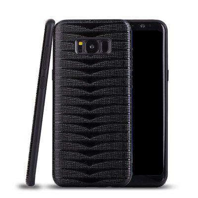 Ultra Thin Slim Soft TPU Silicon Case Shockproof Cover Triangle Stripes for Samsung Galaxy S8