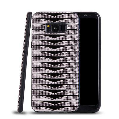 Ultra Thin Slim Soft TPU Silicon Case Shockproof Cover Triangle Stripes for Samsung Galaxy S8 Plus