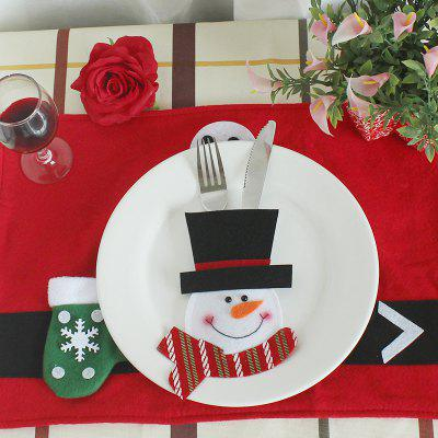 WS 0210 Santa Claus Snowman Reindeer with Pocket Party Christmas Table Decoration Tableware