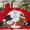 WS 0210 Santa Claus Snowman Reindeer with Pocket Party Christmas Table Decoration Tableware - SNOWMAN