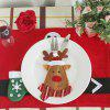 WS 0210 Santa Claus Snowman Reindeer with Pocket Party Christmas Table Decoration Tableware - LITTLE FAWN