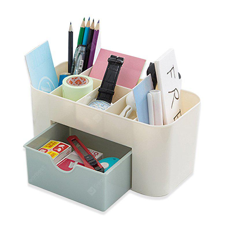 Cosmetic Box 6 Grids Fresh Style Office Storage Rack
