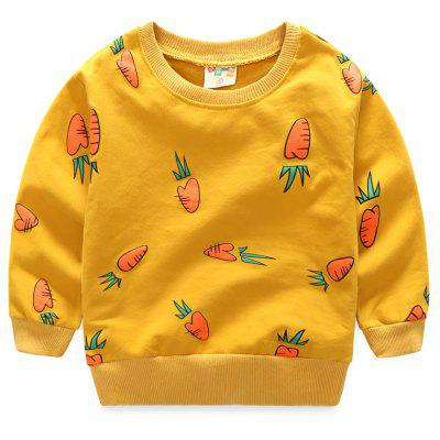 Autumn Korean Version of The  Mens Small Radish Floral Top Baby Sweater Coats Children