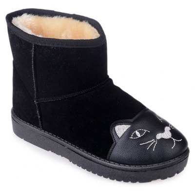 New Style Plus Cotton Cute Students' Winter Boots