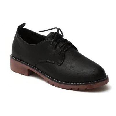 Autumn Thick Bottom England Preppy Chic Leather Students Leisure Single Shoes Girl
