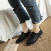 Autumn Thick Bottom England Preppy Chic Leather Students Leisure Single Shoes Girl - BLACK