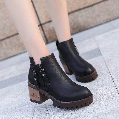 Winter and New Style Rough Heel Round Head Martin Short BootsWomens Boots<br>Winter and New Style Rough Heel Round Head Martin Short Boots<br><br>Boot Height: Ankle<br>Boot Type: Riding/Equestrian<br>Closure Type: Zip<br>Embellishment: Tassel<br>Gender: For Women<br>Heel Height: 7<br>Heel Height Range: Med(1.75-2.75)<br>Heel Type: Chunky Heel<br>Insole Material: PU<br>Lining Material: Cotton Fabric<br>Outsole Material: Rubber<br>Package Contents: 1xShoes(pair)<br>Pattern Type: Solid<br>Platform Height: 2.5<br>Season: Winter<br>Shoe Width: Medium(B/M)<br>Toe Shape: Pointed Toe<br>Upper Material: PU<br>Weight: 1.9200kg