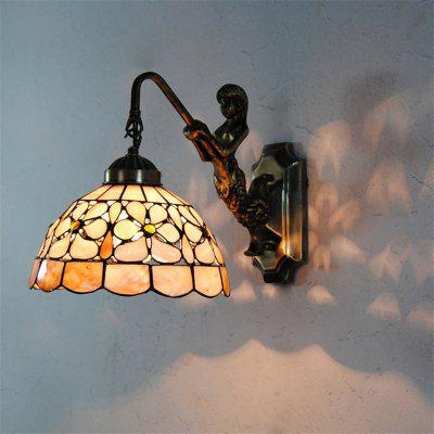 Buy COLORMIX Modern Art Shell Crafts Nordic Shell Patch Lamp Shade Lustre Vanity Wall Light Fixtures Handicrafts Christmas Decor for Home Living Room Bathroom Bedroom Bedside Sconces Mermaid Luminaire BKBD-01 for $90.90 in GearBest store