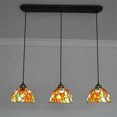 Modern Art Glass Lamp Shade Lustre Vanity Pendant Light Fixtures Chandelier Luminaire DFNDD-25
