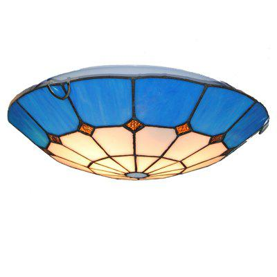 Buy COLORMIX Modern Art Crafts Nordic Stained Glass Lamp Shade Lustre Vanity Flush Mount Ceiling Light Fixtures Chandelier Living Room Luminaire DFNXDD-05 for $125.15 in GearBest store