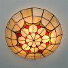 Modern Art Crafts Nordic Stained Glass Lamp Shade Lustre Vanity Flush Mount Ceiling Light Fixtures Chandelier Living Room Luminaire DFNXDD-13 - COLORMIX