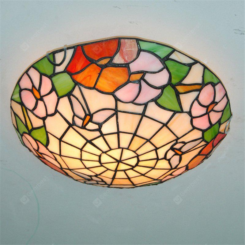 Modern Art Crafts Nordic Stained Glass Lamp Shade Lustre Vanity Flush Mount Ceiling Light Fixtures Chandelier Living Room Luminaire DFNXDD-16